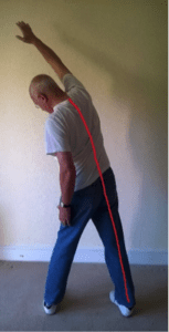 Stretch for sciatica pain while standing