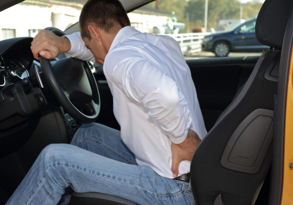 Ease sciatic pain when driving