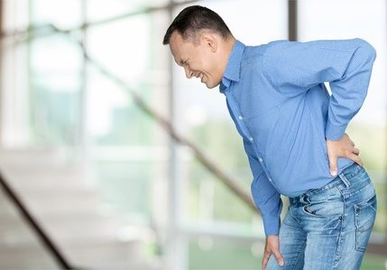 Middle age man with back pain